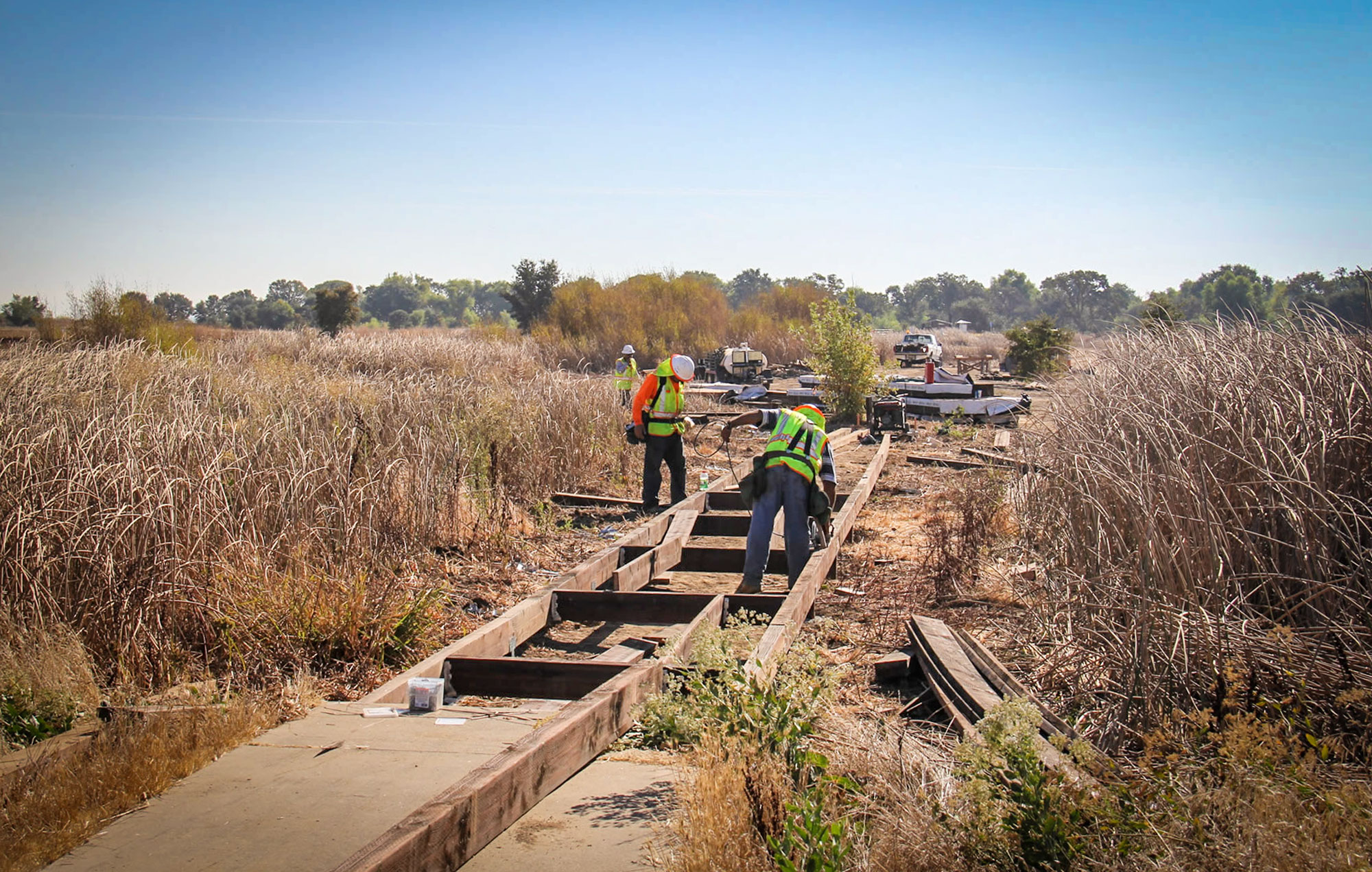 cosumnes river boardwalk reconstruction